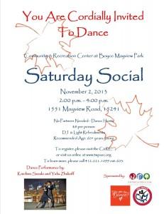 Saturday Social 11/13 revised